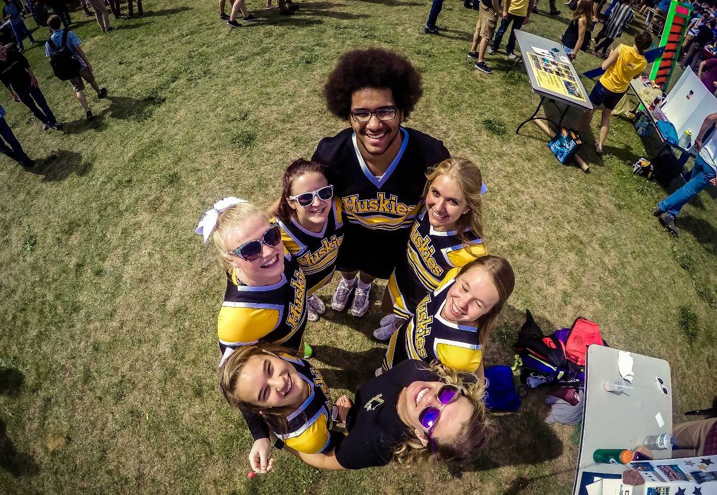 Cheer Team shows their spirit