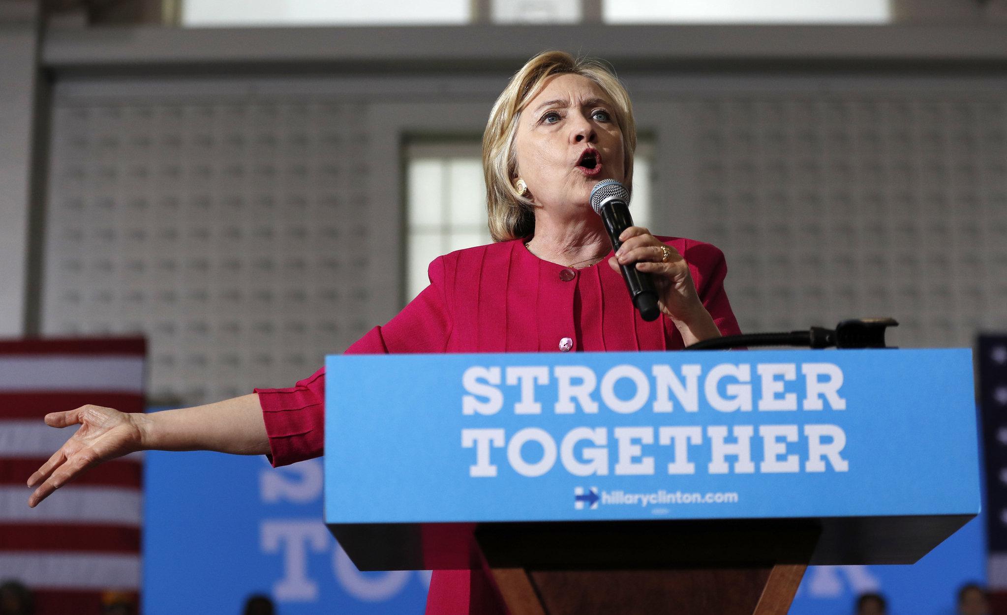 Democratic presidential hopeful Hillary Clinton. Courtesy of the Associated Press