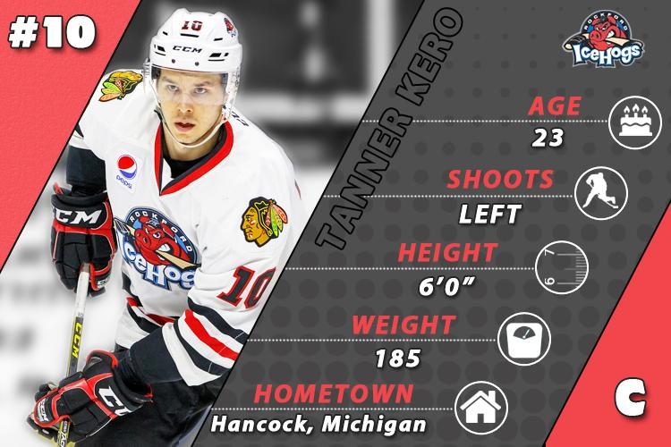 Tanner Kero, Tech alum and player for the Rockford IceHogs. - Photo courtesy of Rockford IceHogs