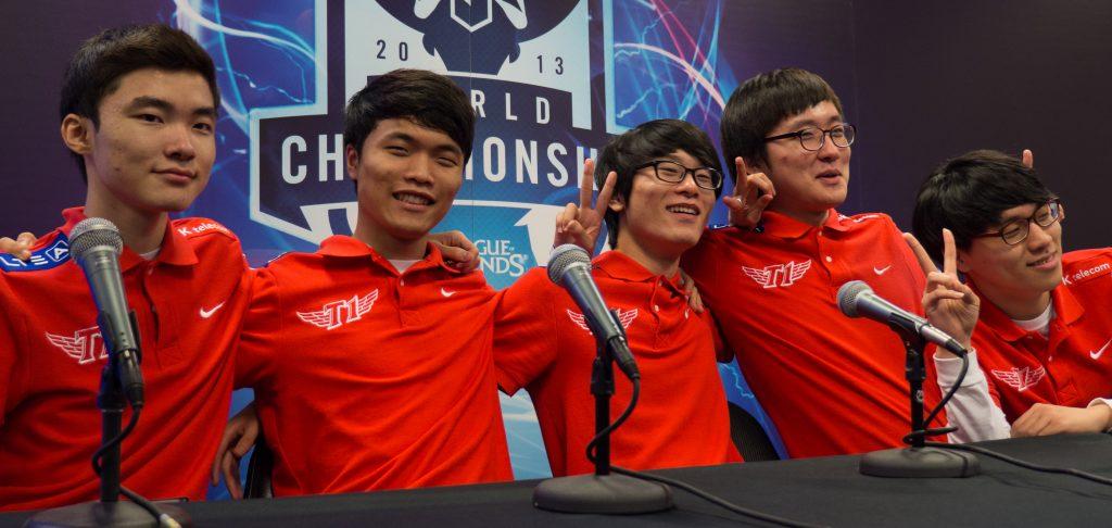 Team SKT at the 2013 World Championship. - Photo courtesy of Wikipedia
