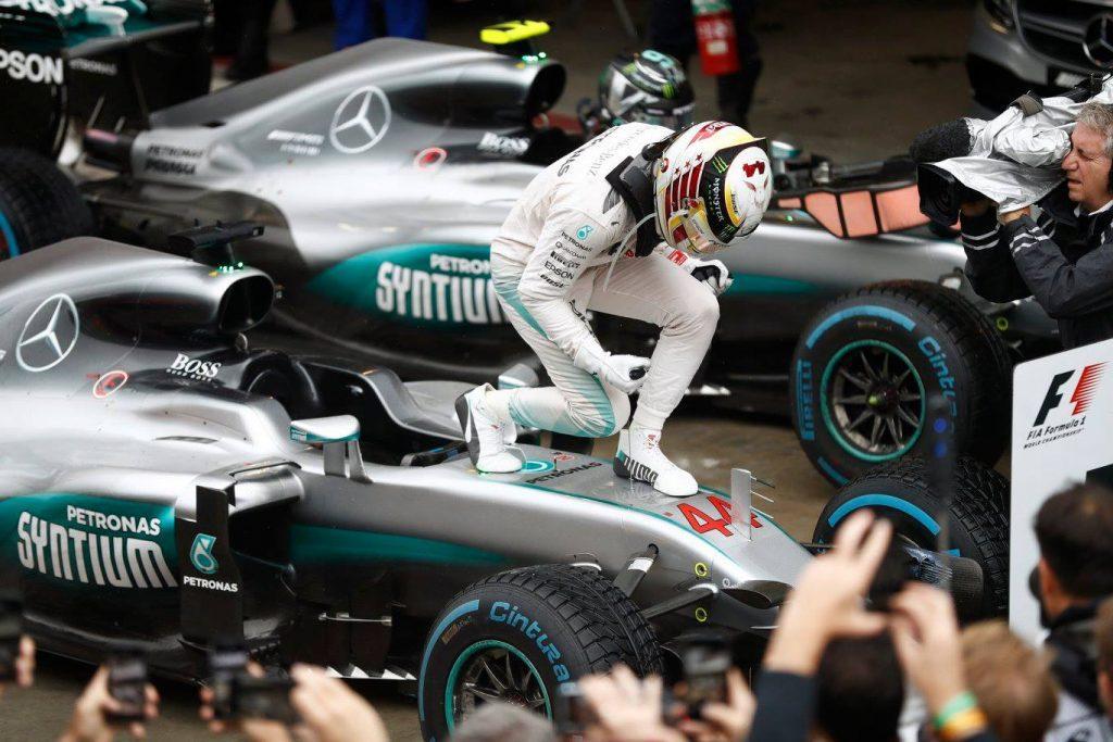 Lewis Hamilton after his victory. - Photo courtesy of Federation Internationale de l'Automobile