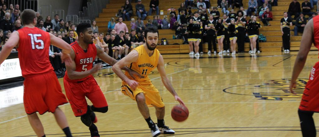 The Huskies are now second in the GLIAC North Division standings. The Huskies were neck and neck with the Cardinals throughout most of the game but were able to get the upper hand at the end of the game. - Photo by Aswin Muralidharan