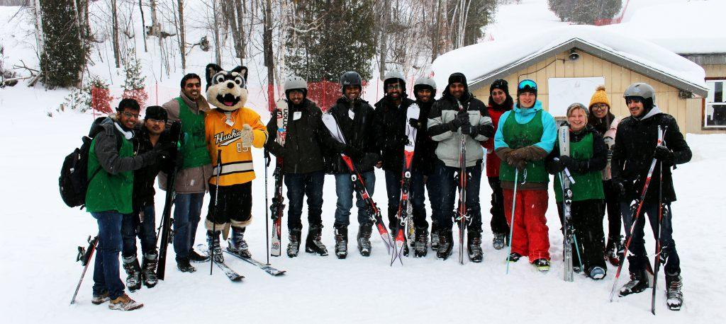 Blizzard with the skiiers on Sunday, Jan. 29. - Photo by Aswin Mualidharan
