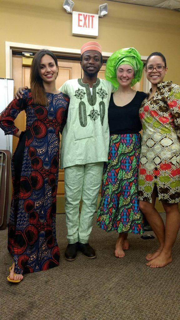 A group of performers pose in their traditional costumes. - Photo courtesy of Olayemi Awotayo