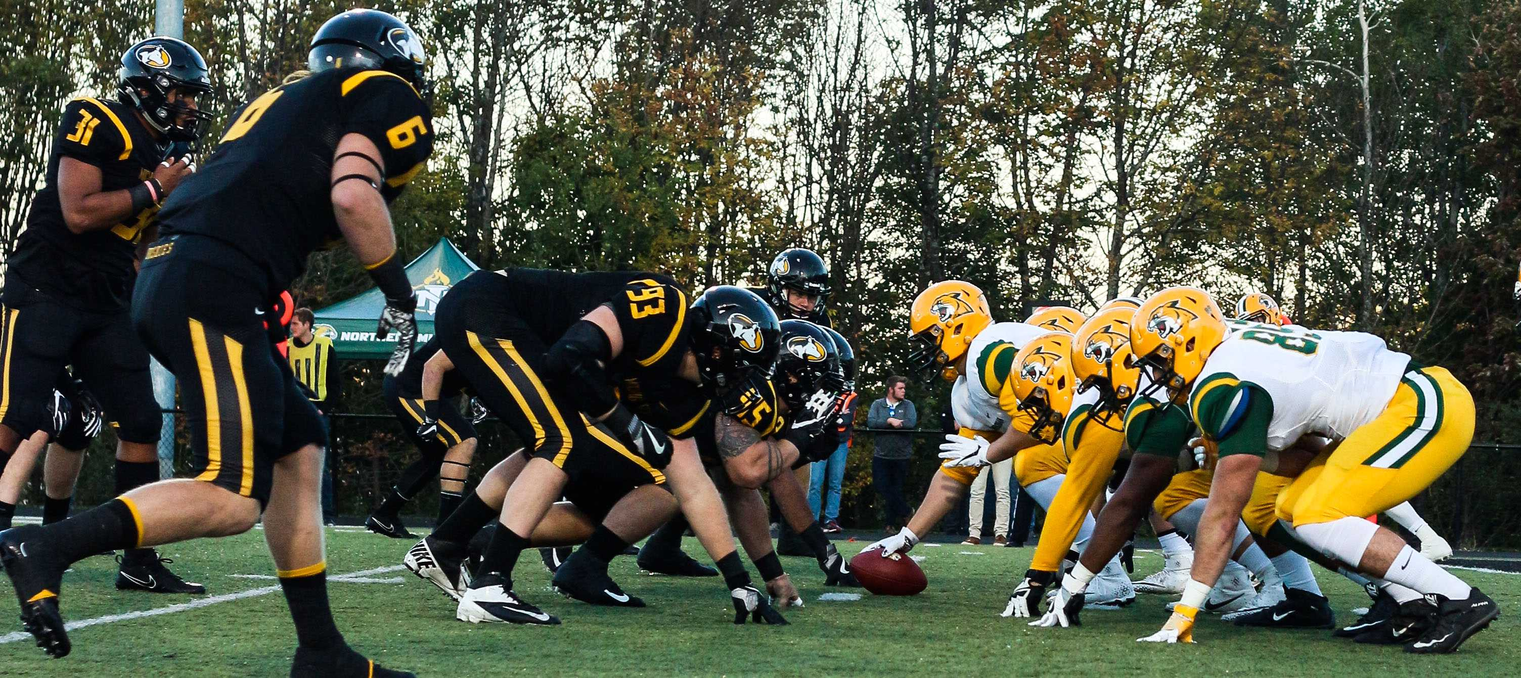 The Huskies on the field during their battle for the Miner's Cup.                Image courtesy of Ajay Patil