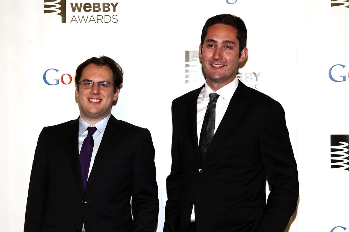 Instagram co-founders Mike Krieger, left, and Kevin Systrom Paul Zimmerman