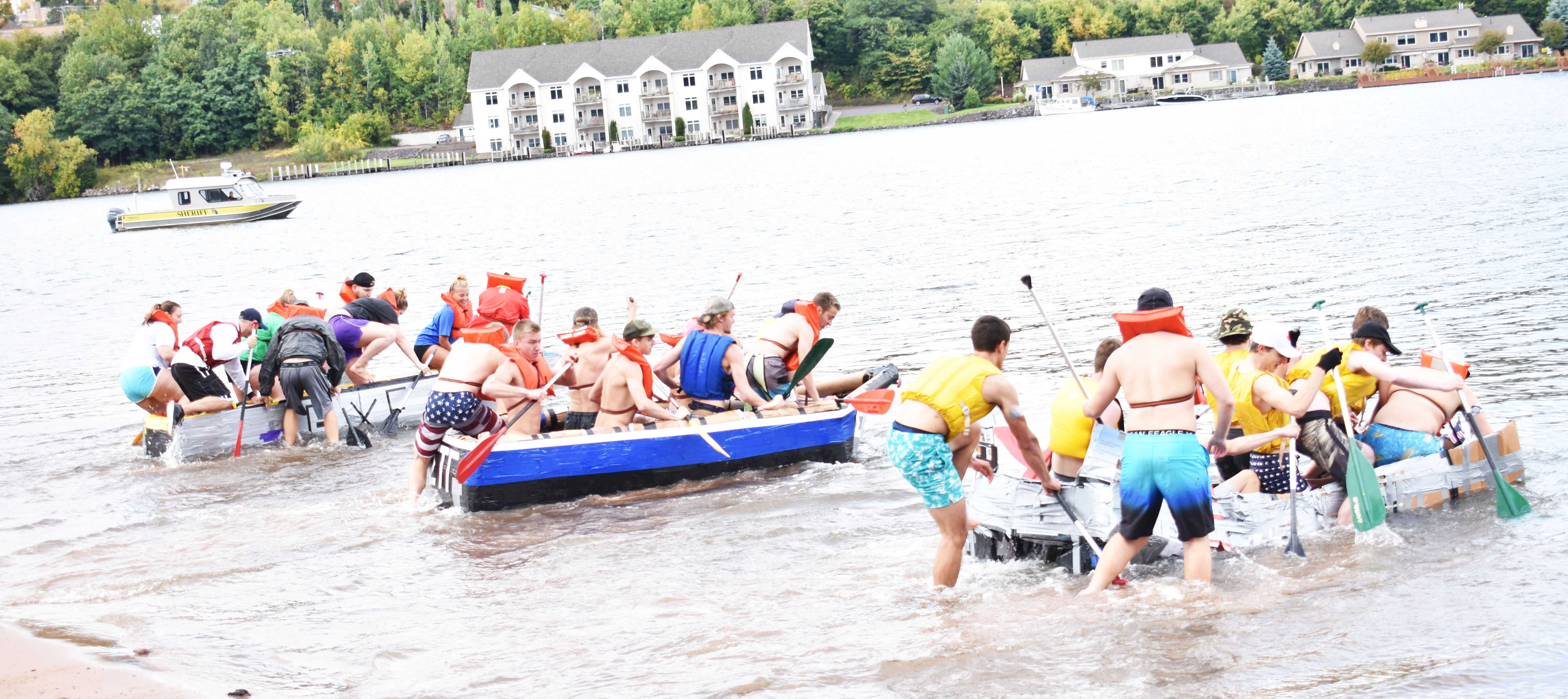 Michigan Tech's Cardboard Boat Races: Sink or swim?