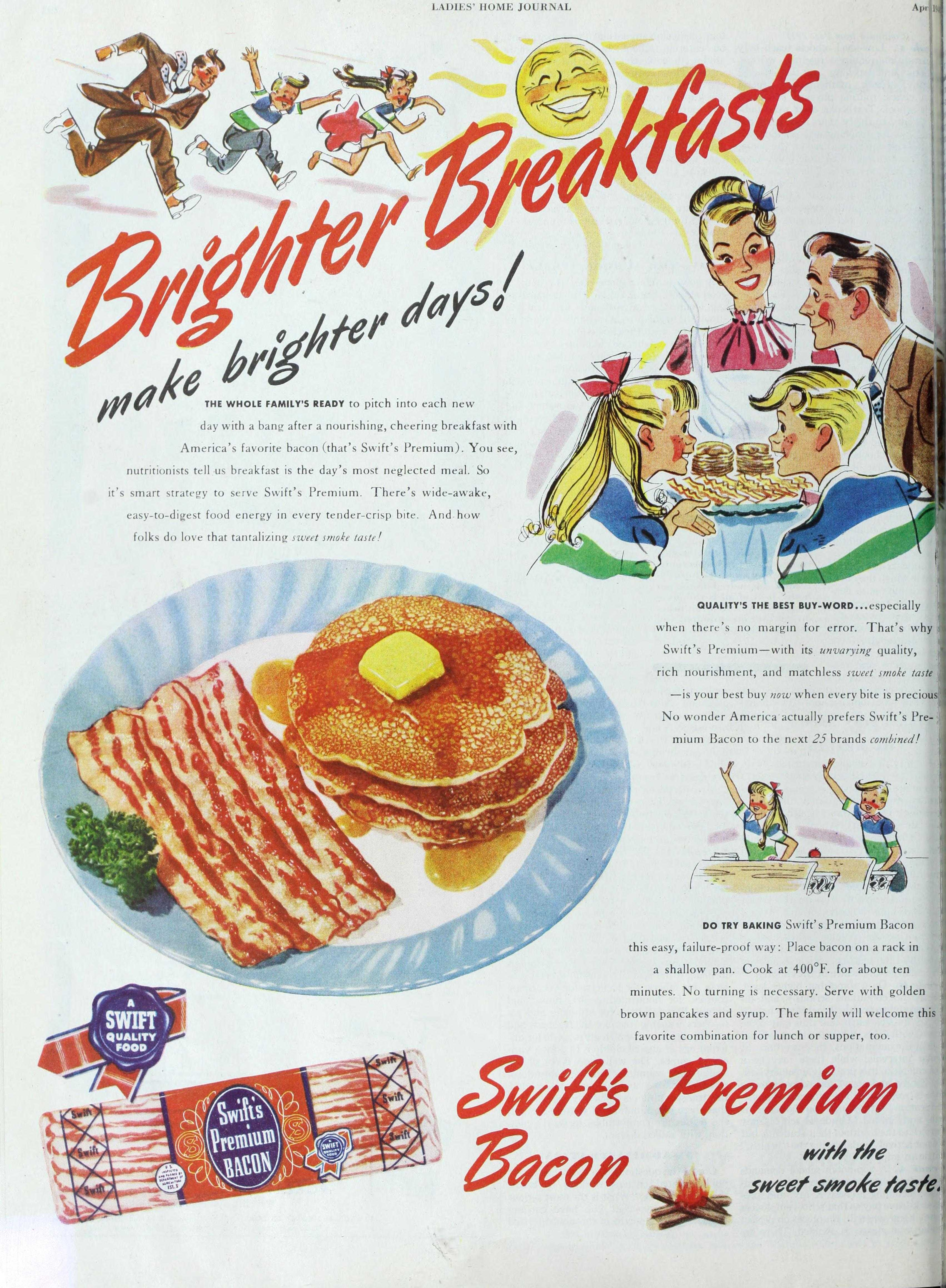 The breakfast we consider the tradition of America isn't as traditional as it seems. We ought to examine our long-held traditions to see why they exist, such as the emphasis on selling leftover bacon as an American staple.
