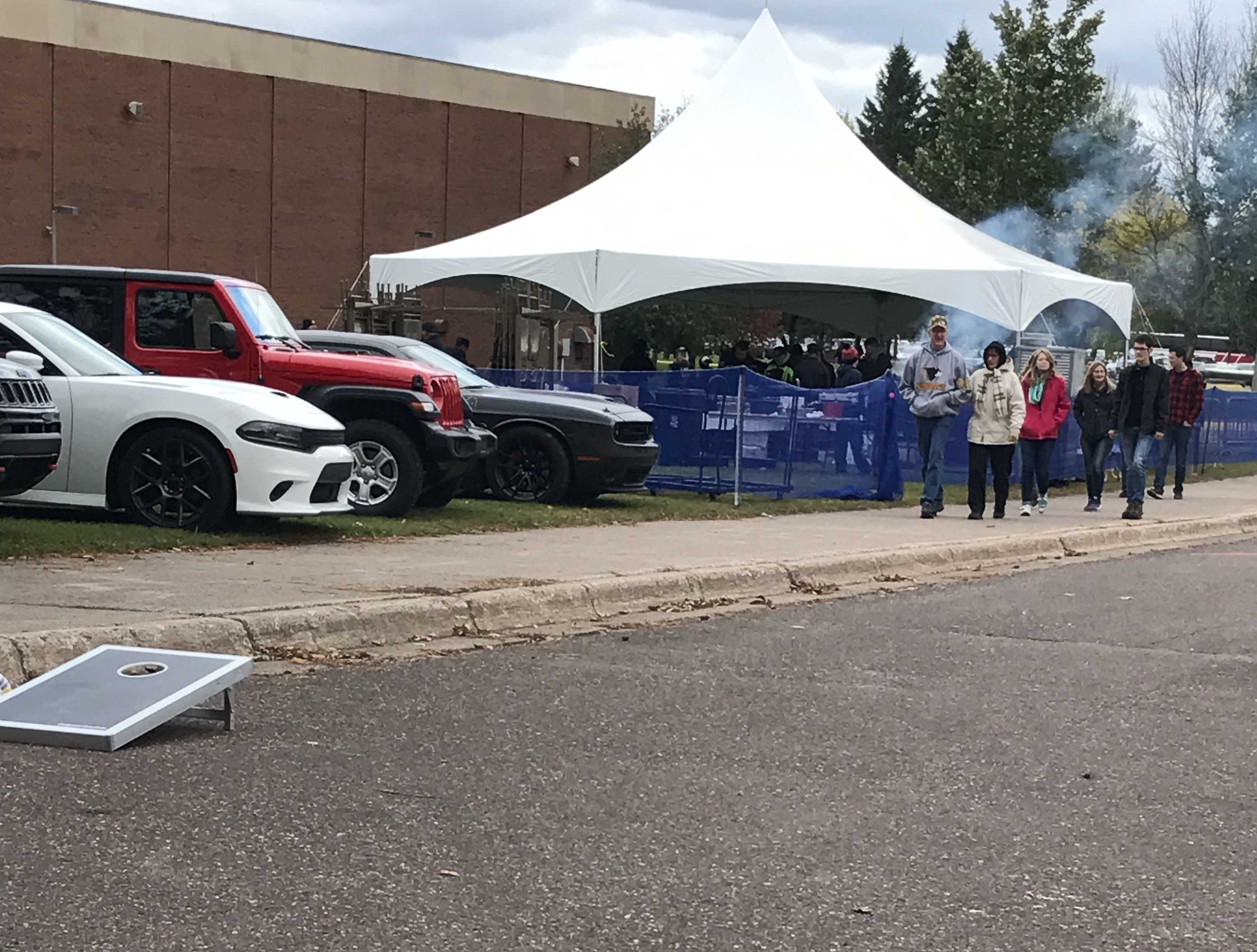 The tailgating event offered Husky fans free food and a few yard games to play. Mostly people enjoyed talking with each other and discussing Homecoming.