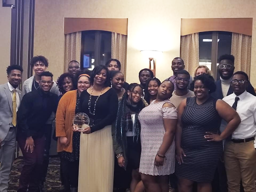 Slade with some members of the NSBE at the award night.