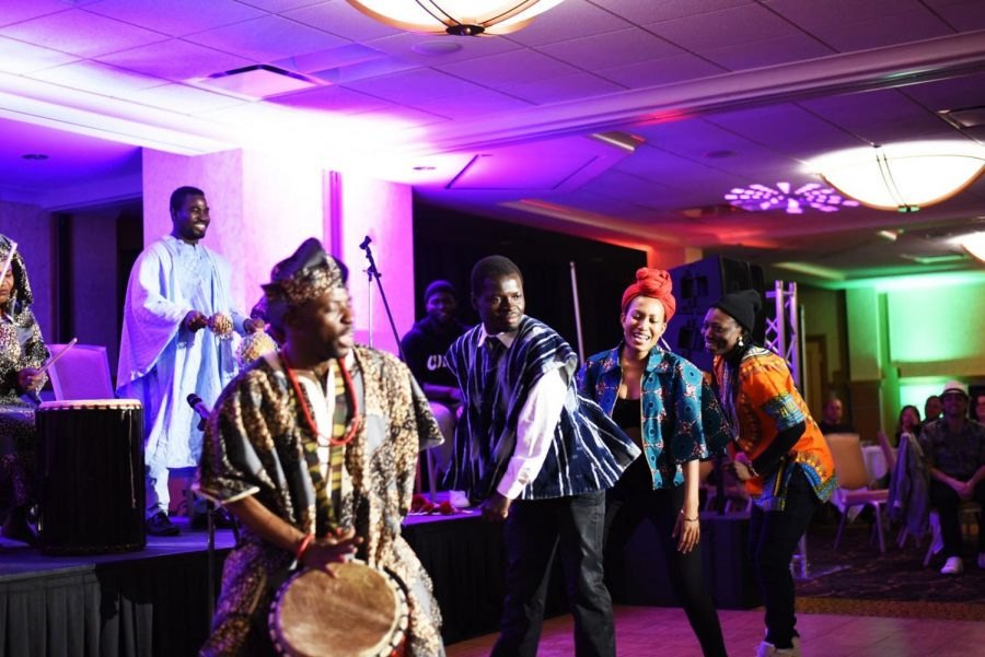 Some+students+and+performers+dancing+at+2018+African+Night.+