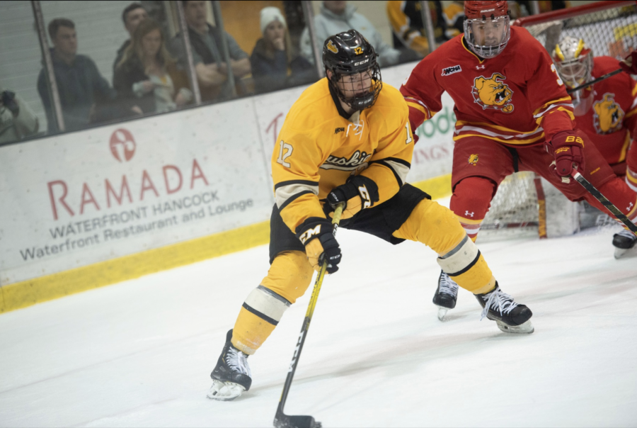 Huskies split with Ferris State after Saturday loss
