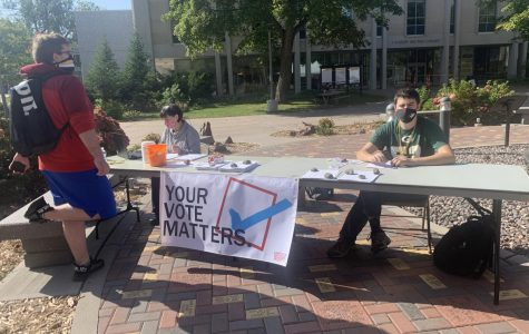 This Tuesday, USG had booths out to register student voters.