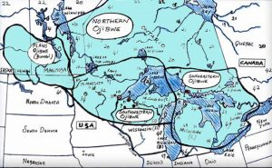 This map shows the homelands of the Anishinaabe People of the Great Lakes. As November is known nationally as American Indian and Alaska Native Heritage Month, Michigan Tech will be hosting a few events in celebration.