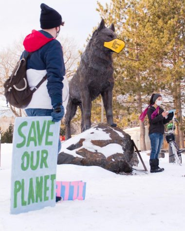 The student group Keweenaw Youth for Climate Action hosted a Day of Solidarity for a variety of causes, including environmental justice, on Wednesday.