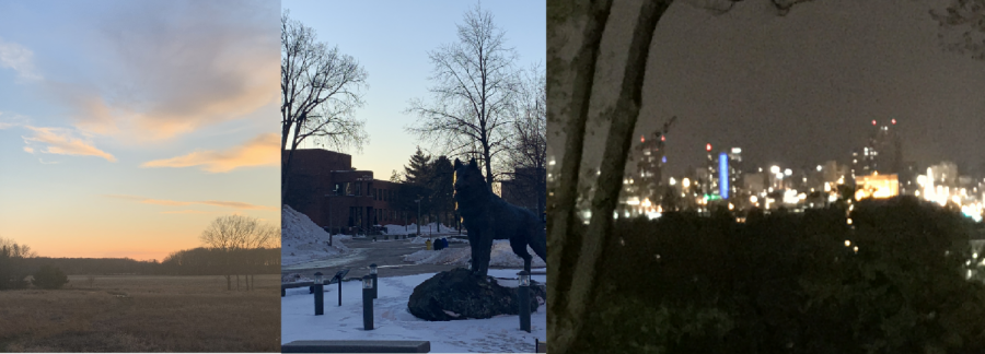From left to right: my backyard, MTU campus, and Grand Rapids. All three have represented home for me.