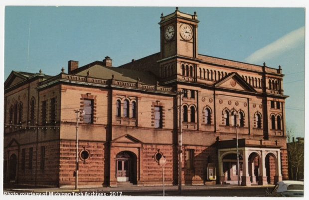 The Calumet Theatre, seen here in this old postcard, is the largest opera house north of Green Bay. It's interior is as impressive as its exterior!
