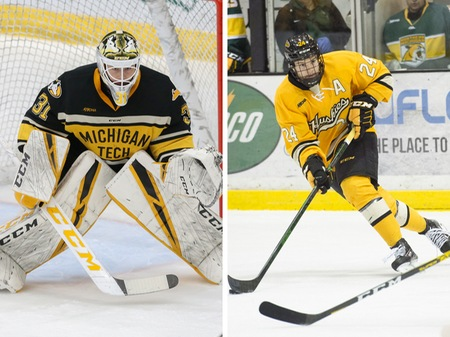 Blake Pietila and Colin Swoyer named WCHA players of the week