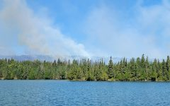 View of smoke at Isle Royale