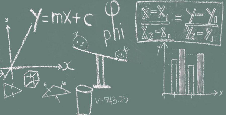 A near-exact replica of your average MTU blackboard.